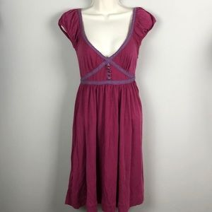 Free People Purple Buttoned Dress